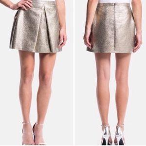1. state Gold Metallic Mini Skirt!